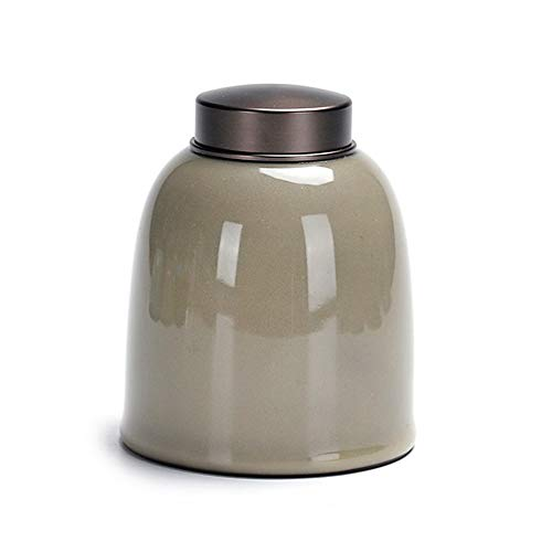 LIZONGFQ Ceramics Cremation Urns Alloy Sealing Cover for Ashes & Mortal Remains   Handmade Beautiful Urns for Humans and Pets,B