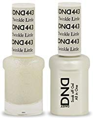 DND Soak Off Gel Polish Dual Matching Color Set 443, Twinkle Little Star