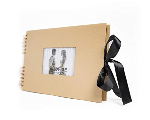 Ribbon Guest Book - Luxurious Scrapbook Photo Album with Wrinkle-Free Ribbon Closure - Elegant Scrapbooking Memory Album with 4