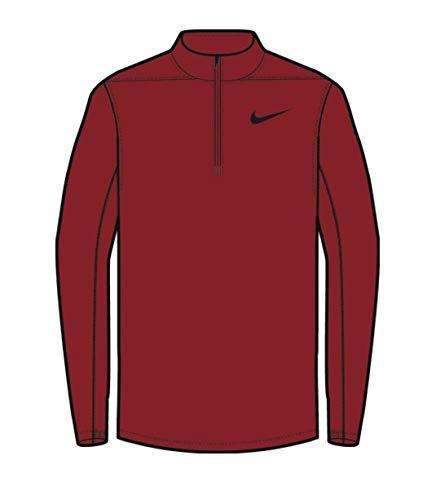 Nike Dry Core Half-Zip Men's Golf Top (Gym Red, Large)