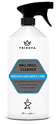 Trinova Grill Cleaner Spray For Bbq Cleaning Solution For Grate On Gas Wood Oil Stone Brick Or Propane Professional Strength And Safe 18oz
