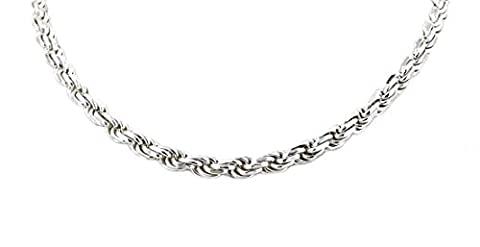 Real Solid 925 Sterling Silver Diamond Cut Rope Chain 3.0mm 16