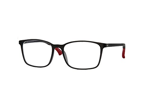 SightLine Gravity 01 Handmade Multifocal Computer Reading Glasses Feature Adjustable Temples and Progressive Lenses with an Anti-Glare Coating; Frame Size: 56-15/145 (+2.50 Grey)