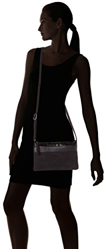 Tamaris Khema Small Crossbody Bag, Bolso con Bandolera, Talla Única Multicolor (Black Comb)