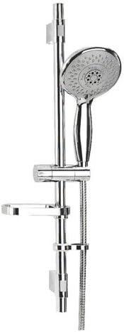 Croydex Contour 4 Function Flexi-Fit Shower Set Handset with Riser Rail and 1.5m Hose