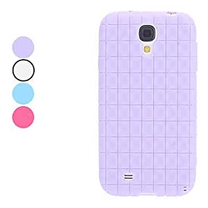 Grid Pattern Soft Case for Samsung Galaxy S4 I9500 (Assorted Colors) --- COLOR:Blue