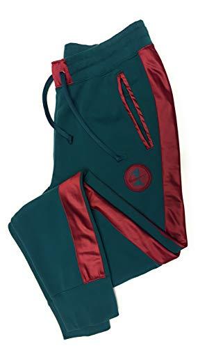 Nike Men's Air Force One Track Pants AH8507-335 (Medium, Green/Red) ()