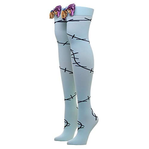 Nightmare Before Christmas Sally Stitches Bow Over The Knee Socks Adult Sz 9-11