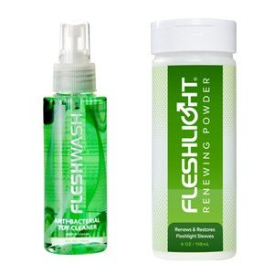 Fleshlight Care Pack | Male Sex Toy Cleaner and Masturbator Sleeve Renewing Powder