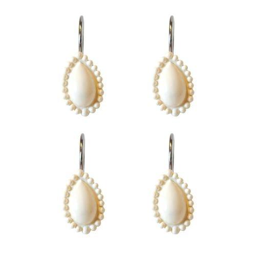 - Lenox French Perle Shower Curtain Hooks