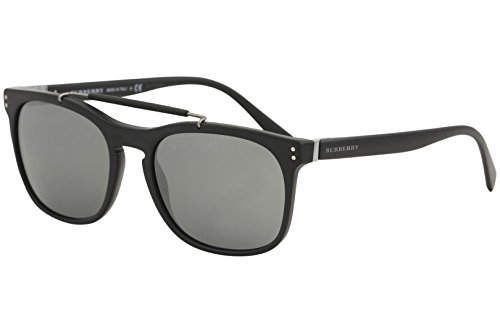 Burberry  Men's 0BE4244 Matte Black/Silver Mirror One - B Burberry