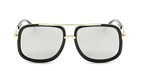 lunettes Lennon cercle Blanc style métallique retro Mercure de vintage du polarisées en rond inspirées soleil wFxaqrAw