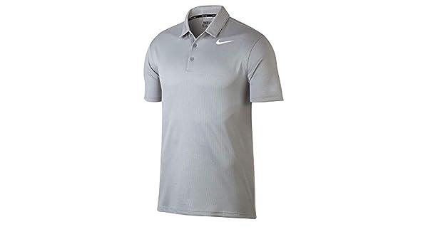 Nike Dry Fit Textured Golf Polo 2017, Medium, Lobo Gris/Platino ...