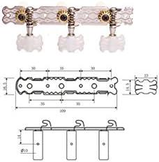 Clavijeros Guitarra Clásica Dr Parts CMH0151/CR: Amazon.es ...