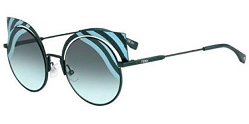 New Fendi HYPNOSHINE FF 0215/S 0KC/EQ green azure/green grey shaded Sung