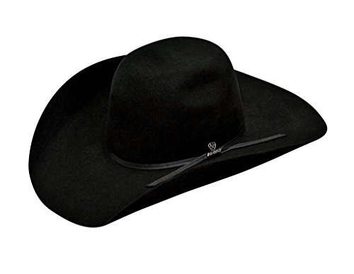 (ARIAT Men's Wool 2 Cord Band Hat, Black, 7)