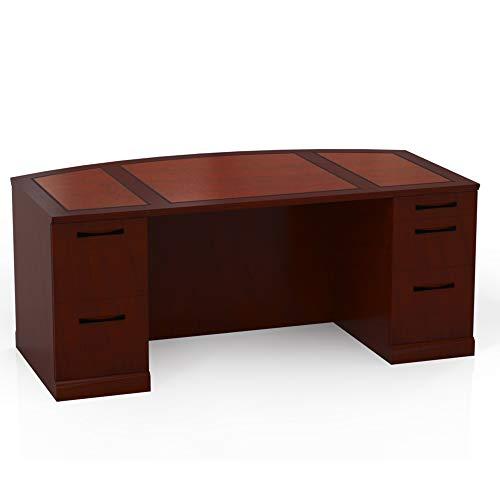Pedestal Bourbon Cherry Desks - Mayline SDBBF72SCR Sorrento 72