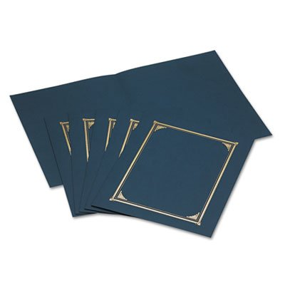 Certificate/Document Cover, 12-1/2 x 9-3/4, Navy Blue, 6/Pack, Sold as 6 (Diploma Cover 8 X 10)