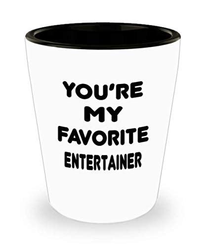 Entertainer Gifts White Ceramic Shot Glass - You Are My Favorite - For Mom and Dad Cup for Coffee or Tea Your Lover ak9418]()