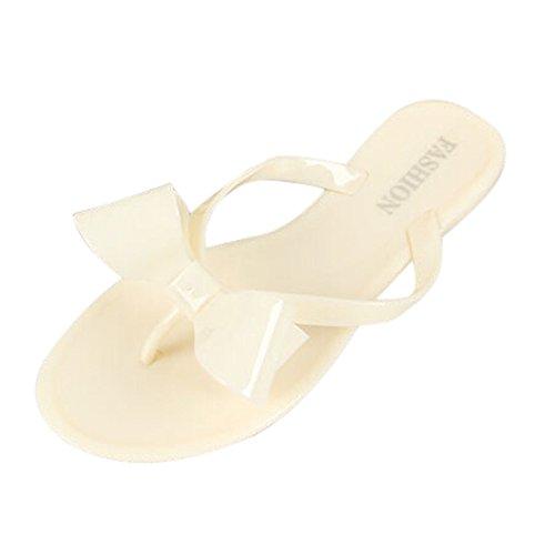 1fc3ff5d56c7 TOOGOO(R)Women s Sandals Summer Beach fashion women s bow flat heel flip  flops beach