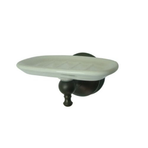 Naples Dish - Kingston Brass BA7615ORB Naples Ceramic Soap Dish, Oil Rubbed Bronze