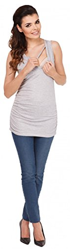 Zeta Ville - Mujeres Maternidad Enfermería Envolver Frente Camiseta M-3xl - 371c Mezcla De Grises
