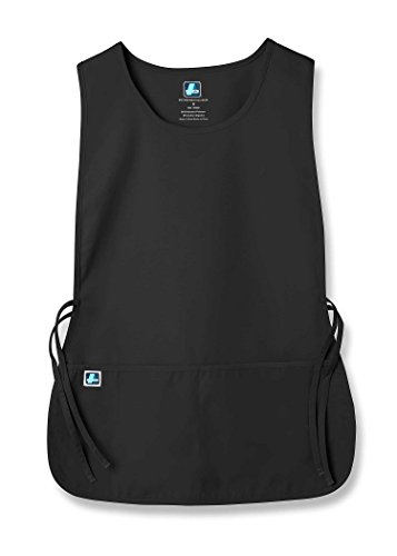 Vest Set Polyester Unisex - Adar Unisex Cobbler Apron with 2 Pocket/Adjustable Ties - 702 - BLK - R