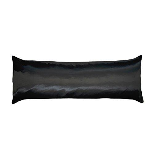 Betty Pillowcase Satin Dain (Betty Dain Soft Satin Body Pillowcase, 21 x 54, Black)