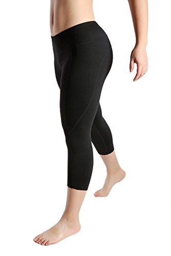 Tough Mode Womens Out Side Pocket Yoga Tights WOD Capris Athletic Compression Crop Pants Crossfit Leggings Running MMA Workout Training Volleyball Black Red Blue Green Full Plus Size