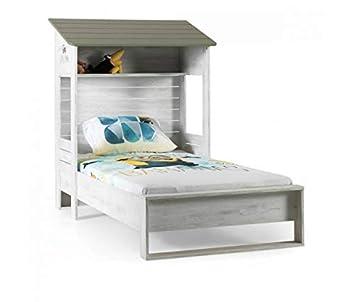 KUPA Jugendbett 100x200cm Farm, Kinderbett mit Einem Dach, Bett ...