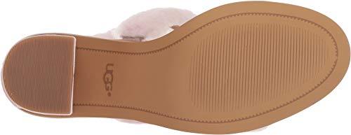 ba3d6e5b039 UGG Women's W DEL Rey Fluff Heel Heeled Sandal, Seashell Pink, 7.5 M US