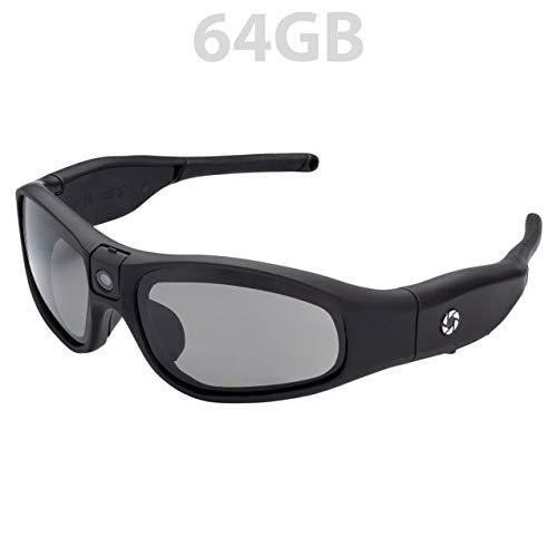iVUE Rincon 1080P HD Camera Glasses Video Recording Sport Sunglasses DVR Eyewear (Tilt Lens, Polarized/Impact Resistant, WiFi/App), ()