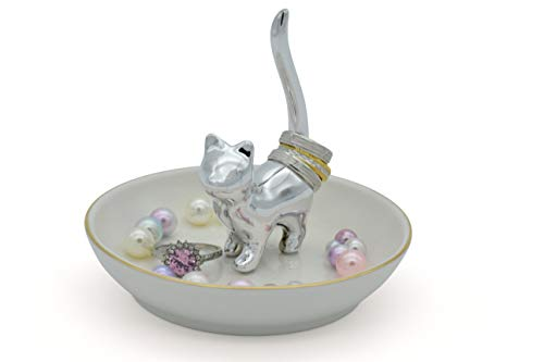 Exembe Cat Ring Holder Jewelry Tray Trinket Dish 4