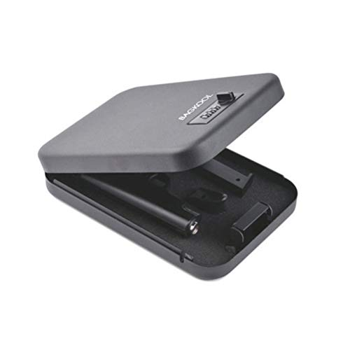 Pistol Safe,Portable Metal Travel Gun Safe Handgun Lock Security Box Case with 3 Digits Combination Lock