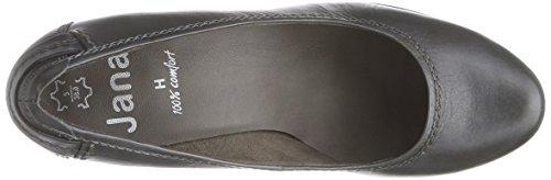 Jana 22404 - zapatos de tacón cerrados de cuero mujer gris - Grau (grau (GRAPHITE 206 ))
