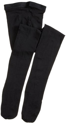 Capezio Little Girls' Ultra Shimmery Footed Tight,Black,S