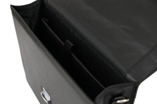 DEERLUX Men's Leather Laptop Briefcase, Black, One Size by DEERLUX (Image #4)