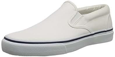 Sperry Top-Sider Men's Striper Slip-On Boat Shoe,White,7 M US