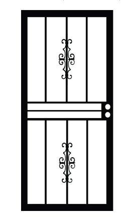 Grisham Genesis 501 Series 32 in. x 80 in. Steel Black Pre-hung Security Door - - Amazon.com  sc 1 st  Amazon.com & Grisham Genesis 501 Series 32 in. x 80 in. Steel Black Pre-hung ...