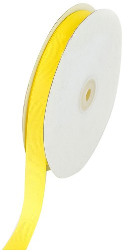 Creative Ideas 50-Yard Solid Grosgrain Ribbon, 5/8-Inch, Canary Yellow]()