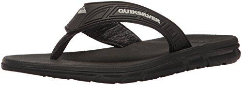 Quiksilver Men's Flow Sandal, Grey/Black, 9 M US