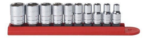 GearWrench 80303 10 Piece 1/4-Inch Drive 6 Point Standard SAE Socket ()