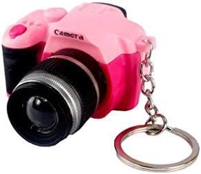 Hletgo Creative Super Mini cámara de Sonido LED Llavero ...