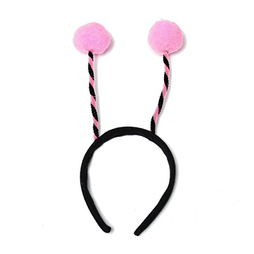 Dickness Ladies Kids Alien Bug Bee Antennas Headband Headdress Costume Party Accessory Color: Pink (Infant Pink Flapper Costume)