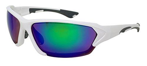 Edge I-Wear Performance Sunglasses w/Z87+ Mirrored Lens 570094-REV-5 - Guys In White Sunglasses