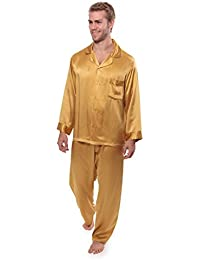 Mens 100% Silk Pajama Set - Luxury Nightwear Pajamas (Milaroma)