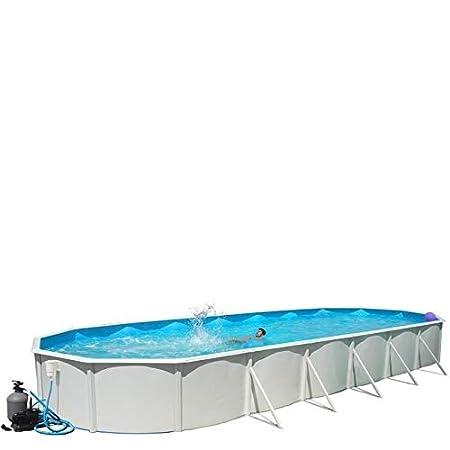 Piscina desmontable de acero Mallorca ovalda de 12,00x4,57m (kit completo): Amazon.es: Juguetes y juegos