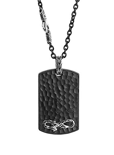 - John Hardy Bronze & Sterling Silver PALU NAGA Dog TAG Necklace 24