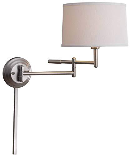 Kenroy Home 20942BS Theta Wall Swing Arm Lamp, 15