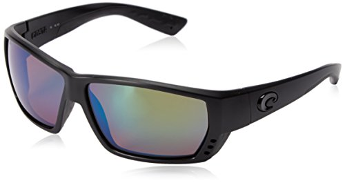 Costa del Mar Tuna Alley Polarized Iridium Wrap Sunglasses, Blackout, 61.9 - Alley Tuna
